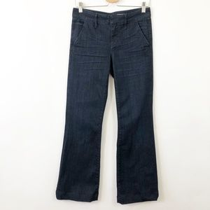 Anthropologies Pilcro Wide Boot Cut Dark Jeans 27